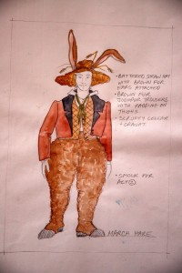 Alice in Wonderland & Through the Looking Glass costume sketch for Mad Hatter