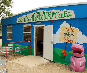 Entrance to the Beanstalk Cafe