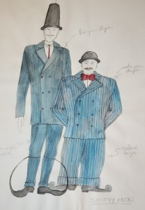 Shifty men costume sketch