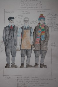 The Wind in the Willows costume sketch for Mole