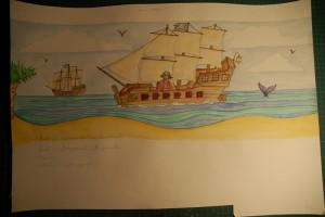 Sketch for pirate mural