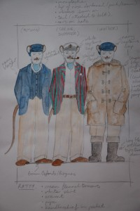 The Wind in the Willows costume sketch for Ratty