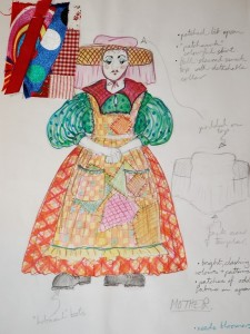 Mother costume sketch
